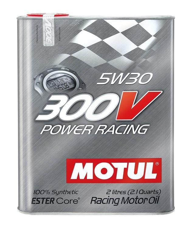 Pilnai sintetinė variklio alyva MOTUL 300V POWER RACING 5W30 2L