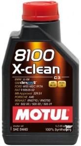 Pilnai sintetinė variklio alyva MOTUL 8100 X-CLEAN 5W40 1L