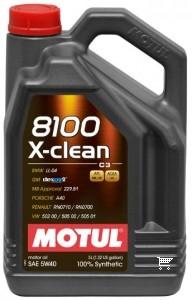 Pilnai sintetinė variklio alyva MOTUL 8100 X-CLEAN 5W40 5L