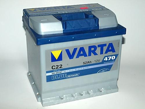 Akumuliatorius Varta Blue Dynamic (12V 52 Ah 470 A)