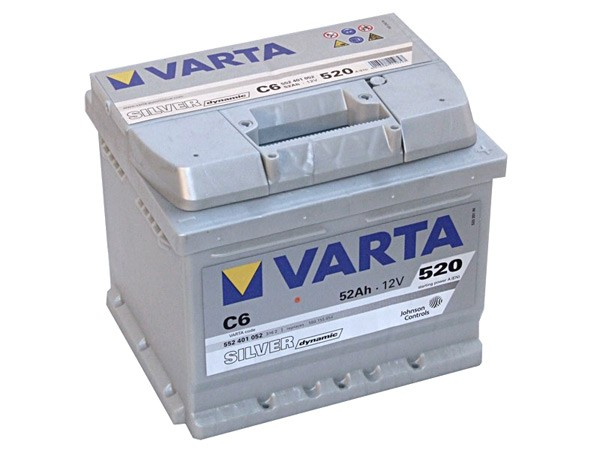 Akumuliatorius Varta Silver Dynamic (12V 52 Ah 520 A)