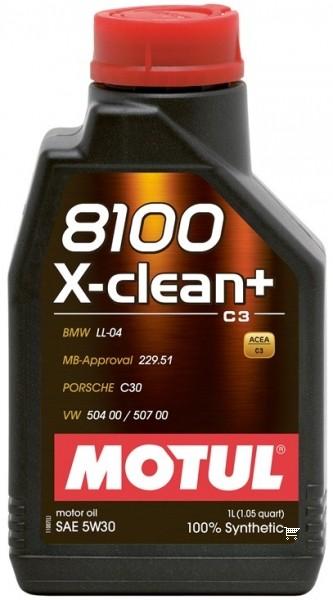 Pilnai sintetinė variklio alyva MOTUL 8100 X-CLEAN+ 5W30 1L