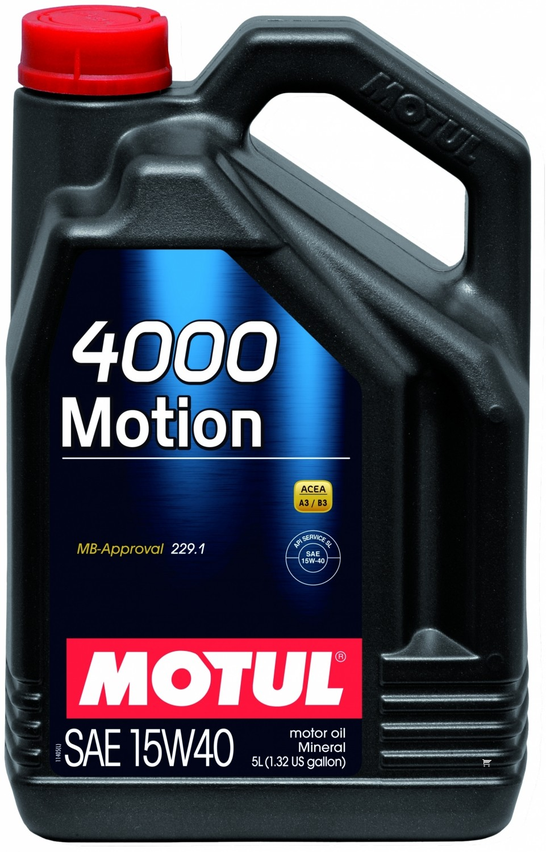 Mineralinė variklio alyva MOTUL 4000 MOTION 15W40 5L