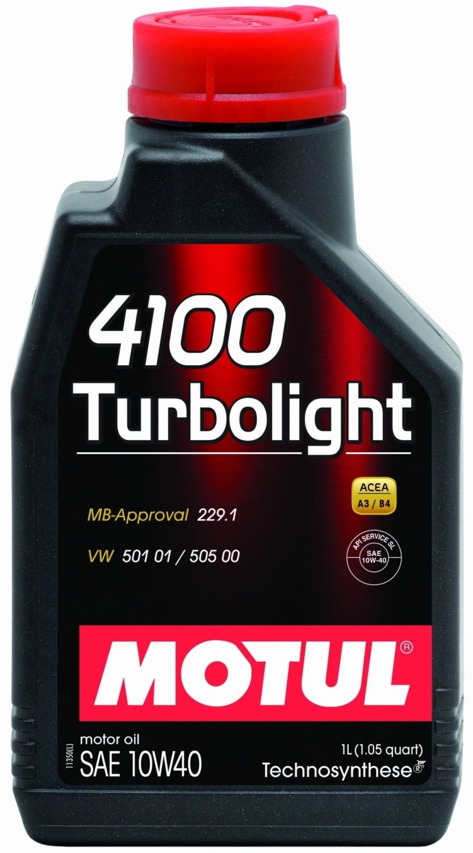 Pusiau sintetinė variklio alyva MOTUL 4100 TURBOLIGHT 10W40 1L
