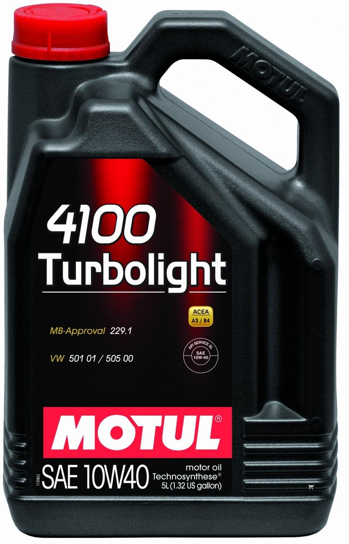 Pusiau sintetinė variklio alyva MOTUL 4100 TURBOLIGHT 10W40 5L