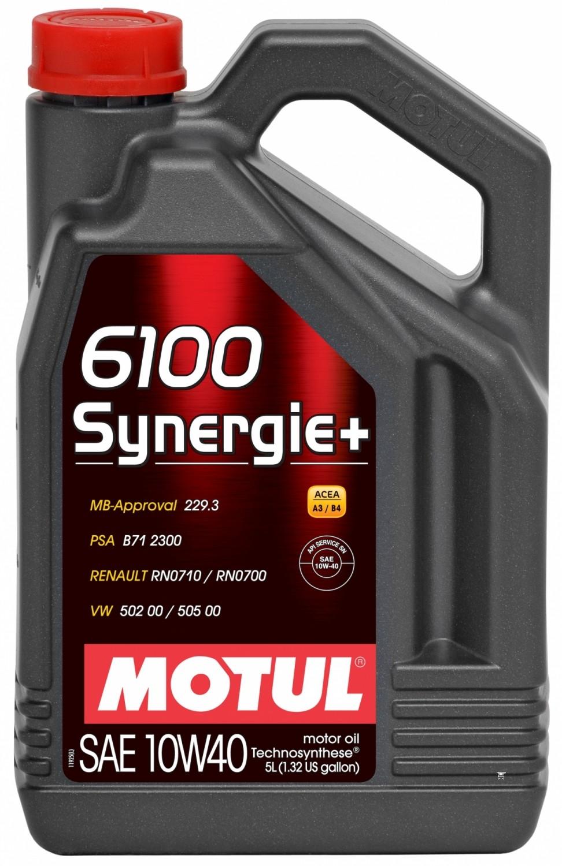 Pusiau sintetinė variklio alyva MOTUL 6100 SYNERGIE+ 10W40 5L