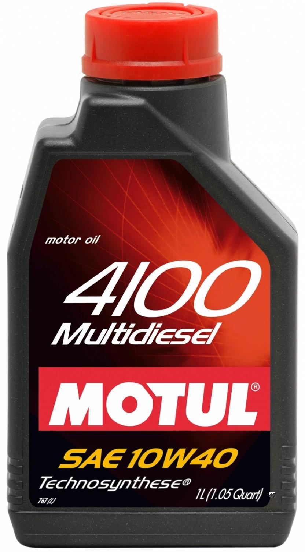 Pusiau sintetinė variklio alyva MOTUL 4100 MULTIDIESEL 10W40 1L