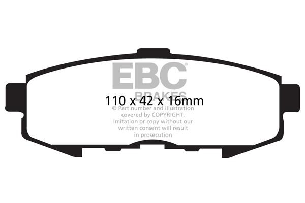 """Stabdžių kaladėlės EBC """"Ultimax"""" DP1733"""