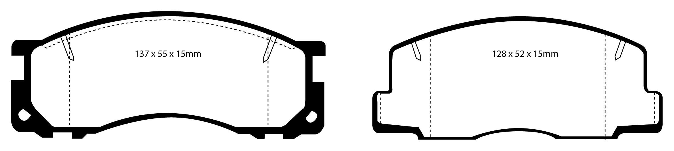 """Stabdžių kaladėlės EBC """"Greenstuff"""" DP2876"""