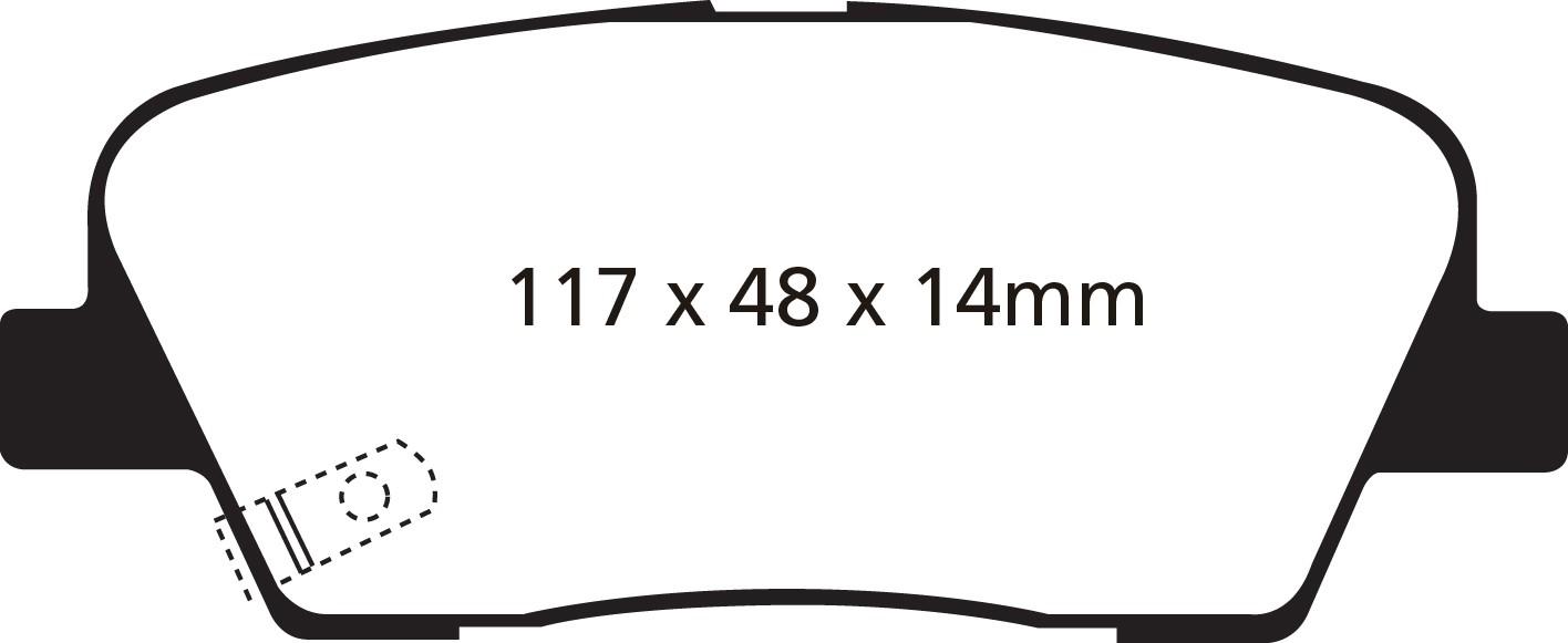 """Stabdžių kaladėlės EBC """"Redstuff"""" DP31806C"""