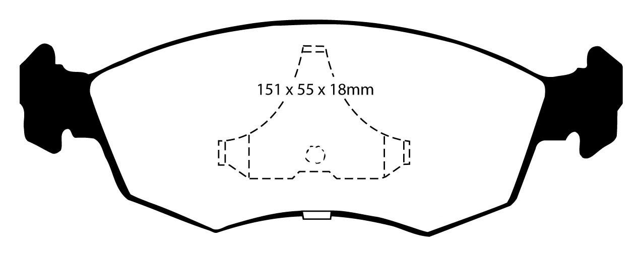 """Stabdžių kaladėlės EBC """"Redstuff"""" DP3605/2C"""
