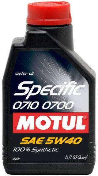 Pilnai sintetinė variklio alyva MOTUL SPEC 0710 0700 (Renault EURO IV,V) 5W40 1L