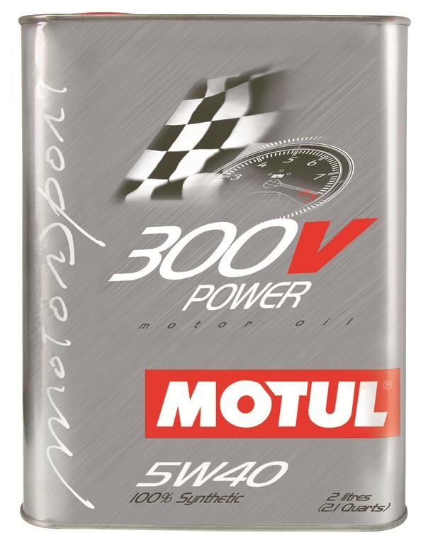 Pilnai sintetinė variklio alyva MOTUL 300V POWER 5W40 2L