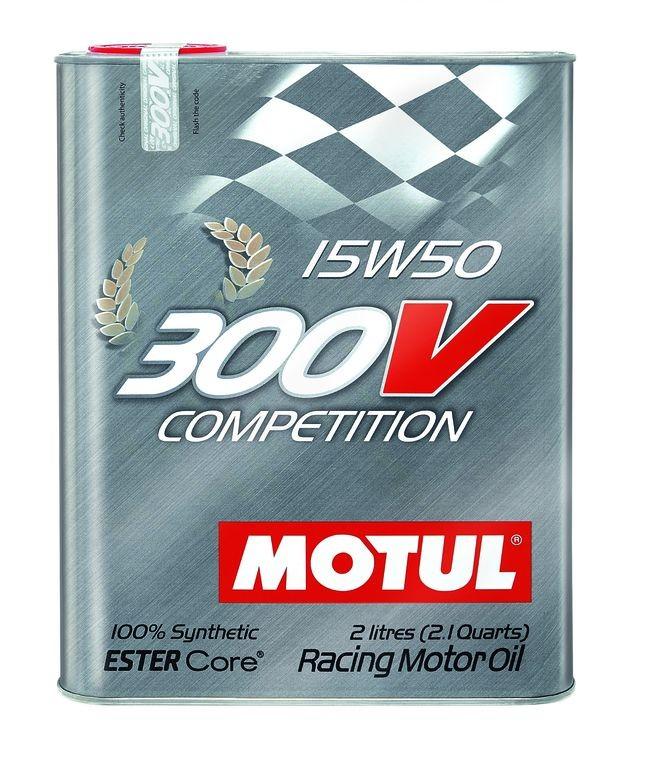Pilnai sintetinė variklio alyva MOTUL 300V COMPETITION 15W50 2L