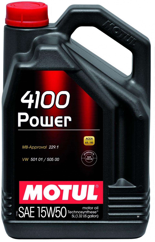 Pusiau sintetinė variklio alyva MOTUL 4100 POWER 15W50 5L