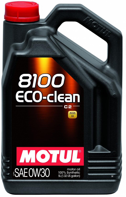 Pilnai sintetinė variklio alyva MOTUL 8100 ECO-CLEAN 0W30 5L