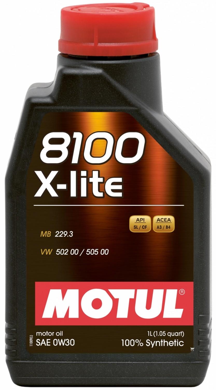 Pilnai sintetinė variklio alyva MOTUL 8100 X-LITE 0W30 1L