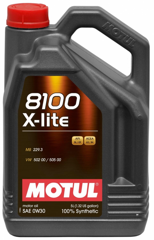 Pilnai sintetinė variklio alyva MOTUL 8100 X-LITE 0W30 5L