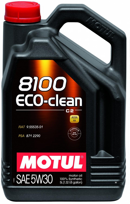 Pilnai sintetinė variklio alyva MOTUL 8100 ECO-CLEAN 5W30 5L