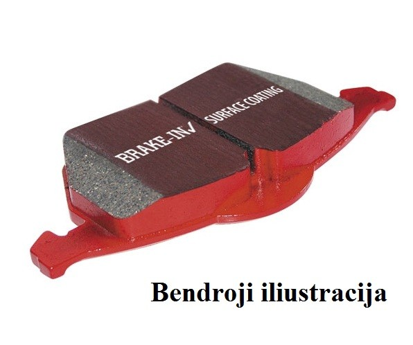 """Stabdžių kaladėlės EBC """"Redstuff"""" DP32130C"""