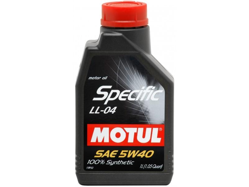 Pilnai sintetinė variklio alyva MOTUL SPECIFIC LL-04 5W40 1L