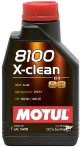 Pilnai sintetinė variklio alyva MOTUL 8100 X-CLEAN C3 5W30 1L