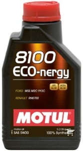 Pilnai sintetinė variklio alyva MOTUL 8100 ECO-NERGY 5W30 1L