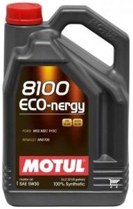 Pilnai sintetinė variklio alyva MOTUL 8100 ECO-NERGY 5W30 5L