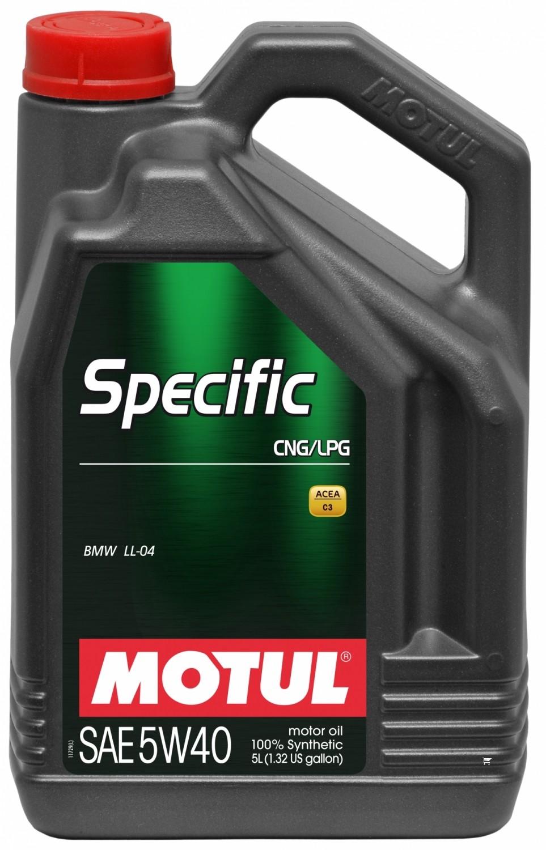 Pilnai sintetinė variklio alyva MOTUL SPECIFIC CNG/LPG 5L