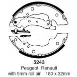 Būgninių stabdžių kaladėlės EBC 5243